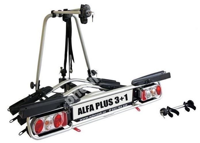 Nosič 4 kol na tažné zařízení ALFA plus 3+1 - DOPRAVA ZDARMA