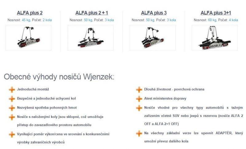 Nosič 2 kol na tažné zařízení - ALFA plus 2 - DOPRAVA ZDARMA č.4