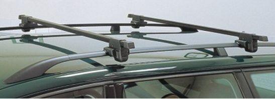 Střešní nosič Hakr  - s tyčemi 125 cm pro vozy s podélníky  - k VYPŮJČENÍ č.2