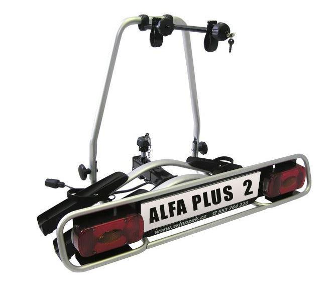Nosič 2 kol na tažná zařízení - Wjenzek Alfa PLUS 2 - k VYPŮJČENÍ