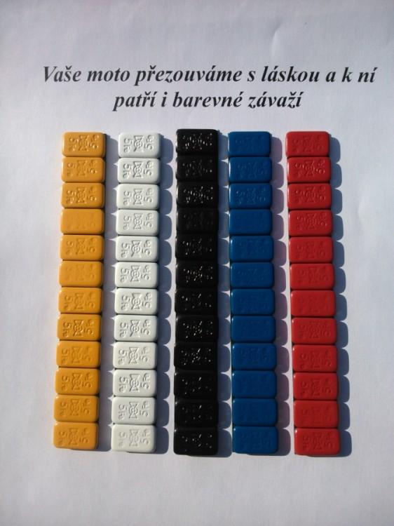 Speciální moto barevné závaží