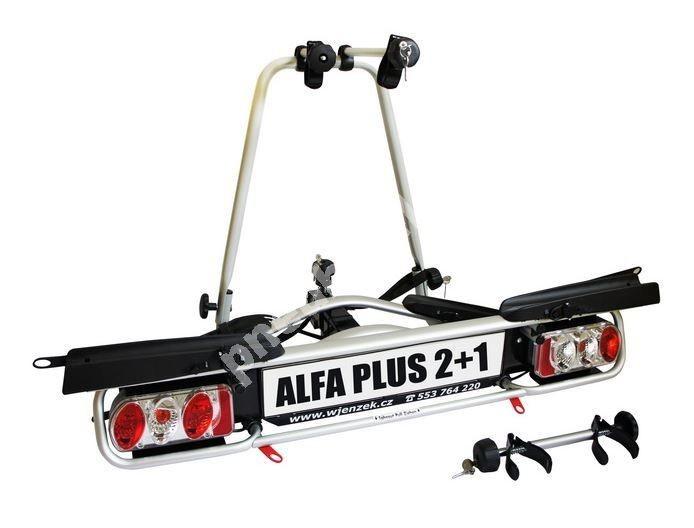 Nosič kol na tažná zařízení - Wjenzek Alfa PLUS 2+1 - k VYPŮJČENÍ