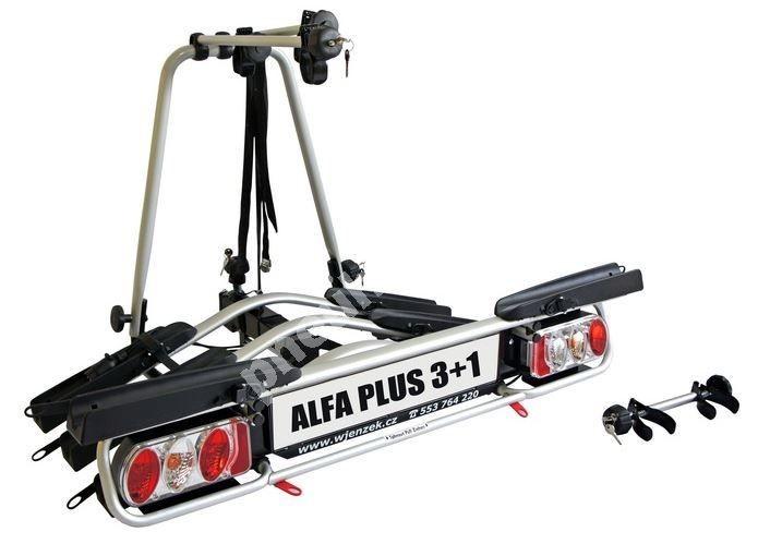 Nosič kol na tažná zařízení - Wjenzek Alfa PLUS 3+1 - k VYPŮJČENÍ